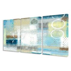 Stupell Decor Leaf And Circles Abstract Canvas Art - Set of 3 - TWP-206_CN_3PC_16X24