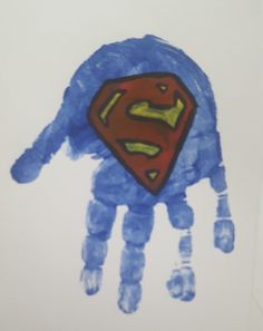 Superman Handprint