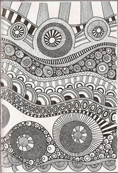 I love these - doodle art - even got some of my grandkids doing it.