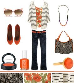 Mixing Patterns! Tribal + Floral + Stripes...