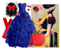 """Snow White"" by xxsilentsilverxx ❤ liked on Polyvore featuring Sergio Rossi, Bare Escentuals, Whimsical Watches, Alison Lou, Betsey Johnson, Carole, women's clothing, women's fashion, women and female"