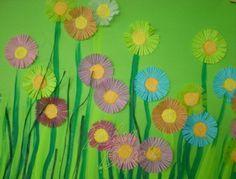 Arbre de printemps peinture au doigt springtime for Decoration fenetre printemps maternelle