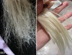 hair repair before and after