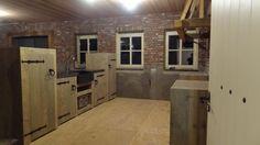 steigerhouten keuken voor binnen of voor buiten / keukenblok van steigerhout