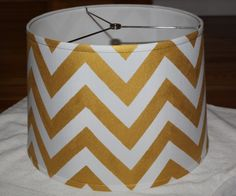 DIY chevron lampshade- I'm going to attempt this for my office table lamp!
