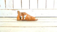 Tan brown leather Huarache gladiator by GreenCanyonTradingCo, $84.00