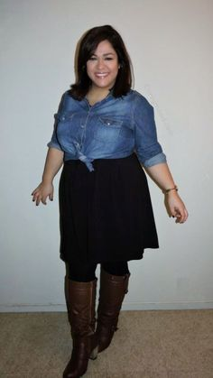 Plus Size Fashion - One Black Dress - Two Ways #FrenchCurves Challenge. - Curvy Mood