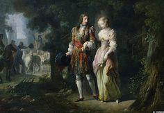 Louis XIV and Françoise Louise de La Baume Le Blanc