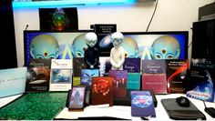 My collection. My temple.  Dedication to the Arcturians. To my Arcturian galactic self.