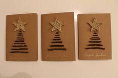 Joulukortit puunoksista