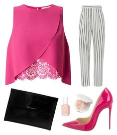 """set 86"" by pushkaash ❤ liked on Polyvore featuring Christian Louboutin, Miss Selfridge, TIBI, Burberry and Essie"