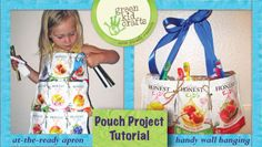 Crafting with Honest Kids Pouches - tutorials for a hanging wall cubby and a pocket apron.