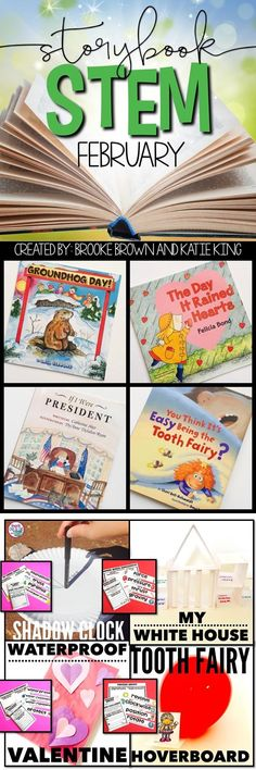 Integrate Literacy and STEM Challenges for February with four units to supplement favorite February read alouds  | Presidents Day STEM | Valentines Day STEM | Groundhog Day STEM | Dental Health Month