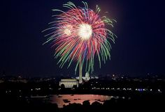 July 4th fireworks, Washington, D.C. Photo by Carol Highsmith, July 4, 2007. Carol M. Highsmith Archive, Library of Congress Prints and Photographs Division.
