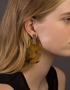 Amber Slice Earrings | Kathleen Whitaker