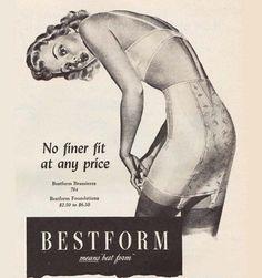 Bestform Lingerie Means Best Form No Finer Fit - Mad Men Art: The 1891-1970 Vintage Advertisement Art Collection