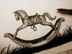 Rocking Horse illustration for Band of Horses gigposter