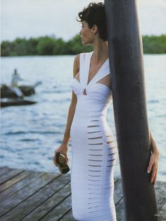 Christy Turlington in Azzendine Alaia. Vogue May, 1990