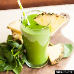This is one of the most beloved green smoothie recipes from Fresh Start 21. It's so simple, but so good! Every morning of this 21 day whole food cleanse you'll drink a green smoothie that is filled with leafy greens, fruits, veggies, and natural liquids, but it doesn't stop there...