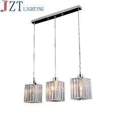 76.95$  Buy now - http://alietr.worldwells.pw/go.php?t=32769326790 - Z Modern Round LED Crystal Chandelier Clear K9 Crtstal Rectangular Dining Table Lamp For Bar coffee shop Ceiling Light Fixture