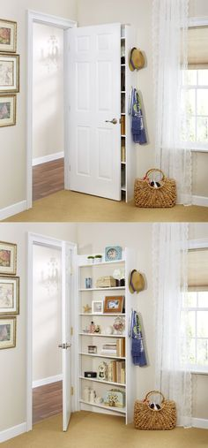 baby nursery: Excellent Ideas About Small Bedroom Storage Hide Behind The Door Shelving System Foremost Because Its Possible Fit Extra For Bedrooms Pinterest Wardrobe Alcoves Closets Teenage Diy: astonishing storage ideas for bedrooms inspiration