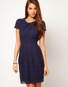 ASOS Tulip Dress In Lace