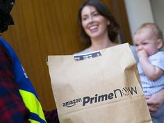 The internet giant launched Prime Now in Surrey last week Amazon Prime Now, Leeds, Product Launch, Delivery
