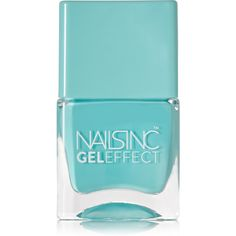 Nails inc Gel Effect Nail Polish - Queens Gardens ($15) ❤ liked on Polyvore featuring beauty products, nail care, nail polish, nail, fillers, cosmetics, makeup, blue, blue nail polish e gel nail polish