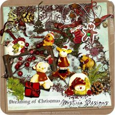 Digital Scrapbooking Kit Dreaming of Christmas (PU/S4H) by Mistica Designs