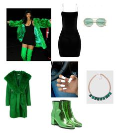 """Rihanna"" by laianeira ❤ liked on Polyvore featuring Versace and P.A.R.O.S.H."