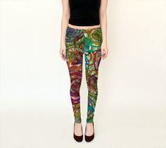 Spiraling Berries Leggings - Full and Capri Length