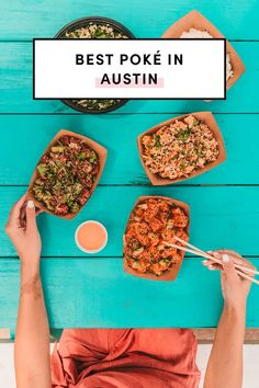 Poke – do you call it pok-ee or poké? Either way, there are several spots in Austin to get a bowl of poke! What is poke you ask? Poke is a Native Hawaiian cuisine that's diced raw fish over a bowl of rice with vegetables and umami-packed sauces. Best Pizza In Austin, Austin Food, Best Places To Vacation, Best Places To Eat, Stuff To Do, Things To Do, Good Things, California Bowl, Travel Guides