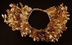 The golden crown of Philip II of Macedon at Vergina found inside the golden larnax.
