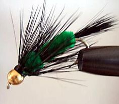 B/Head FUZZY WUZZY BLACK GREEN - Trout Flies Australia-Fly Fishing products,Online Fishing Store, Fly Fishing, Fishing Tackle,