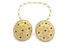 Gold Oval and Rhinestone Sweater Clips Collar Clips, Pendant Necklace, Sweater, Gold, Jewelry, Fashion, Collar Pin, Moda, Jumper