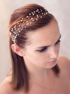 Haarschmuck & Kopfputz - Haar-Accessoires Braut, Perlenreif Kopfschmuck - ein Designerstück von Arsiart bei DaWanda
