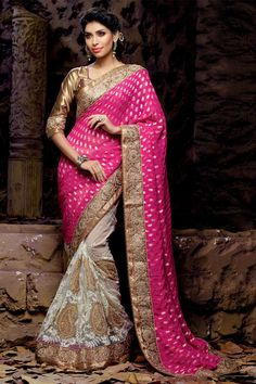 Enthralling Net And Viscose Embroidered Saree