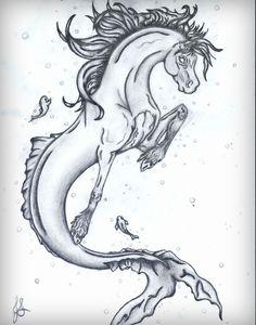 Horse art / sea horse  by Jennafer Stewart