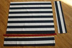 Kissenbezüge für's Paletten-Sofa – eine Anleitung – dreikah Sofa, Country, Furniture From Pallets, Chair Pads, Tutorials, Settee, Rural Area, Couch, Country Music