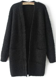 To find out about the Black Long Sleeve Pockets Knit Cardigan at SHEIN, part of our latest Sweaters ready to shop online today! Cute Cardigans, Sweaters For Women, Sweater Coats, Sweater Cardigan, Black Cardigan, How To Have Style, My Style, Knitted Coat, Tumblr Outfits