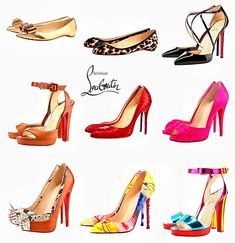 Louboutin Estate 2012 Fashion Model Drawing, Fashion Drawings, Fashion Illustration Shoes, Cute Kawaii Girl, Shoe Sketches, Fashion Wall Art, Fashion Portfolio, Fashion Design Sketches, Shoe Art