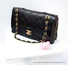 Chanel Classic Handbag Cake (tutorial) by Angela Tran (Sugar Sweet Cakes & Treats)