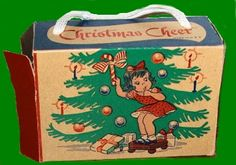 At church on Christmas Sunday we were given little boxes of Christmas candy. http://www.familychristmasonline.com/memories/candy_boxes/girl_tree_box_1940s.jpg