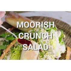 A family favourite in my household on Jamie's Super Food tonight! It's bright, it's beautiful and packed with vitamin C and colour. Tuck into my Moorish Crunch Salad on @channel4 tonight at 8pm! XxJO xx