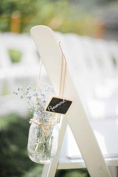 Mason Jar and Twine Flower Holders