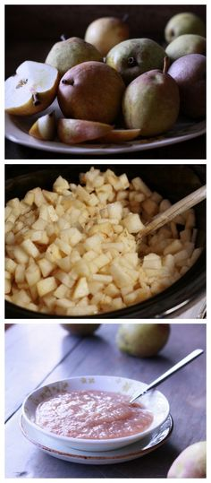 Crockpot Pear Sauce - I could eat it as dessert any day of the week!