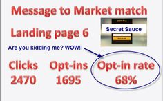 """What would it mean to YOUR business if you had these optin rates? Get Your """"Secret Sauce"""" Here ==>> http://secretsauce.365.pm/"""