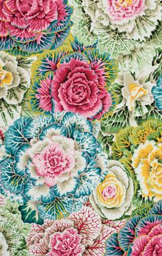 Flower Power, Philip Jacobs fabric – Brassica Pastel