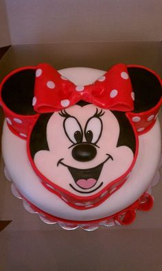 Custom Minnie Mouse cake by 'Its All About You Birthdays'