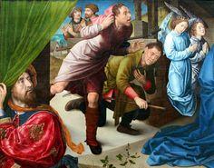 Hugo van der Goes. The Adoration of the Shepherds. c.1480 detail